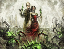 Harry and Marlowe Escape the Mechanical Siege of Paris by Carrie Vaughn (Illustrated by Galen Dara)