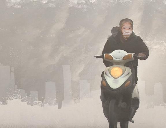 Smog Society. Illustration by Elizabeth Leggett.