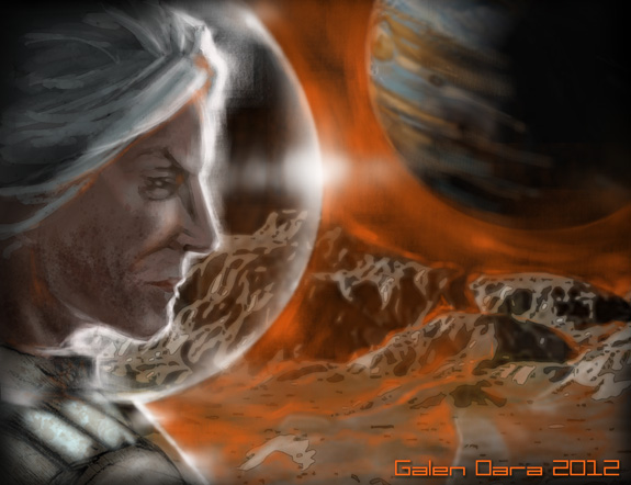 Nightside on Callisto, illustration by Galen Dara