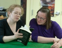 Sarah Monette & Elizabeth Bear (Photo by Sheila Perry)