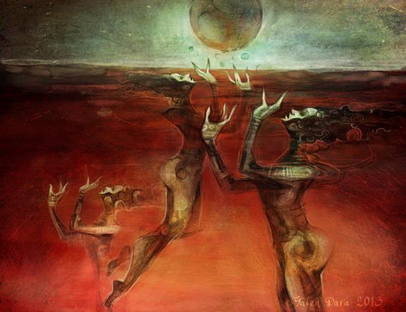 Deep Blood Kettle by Hugh Howey (illustrated by Galen Dara)
