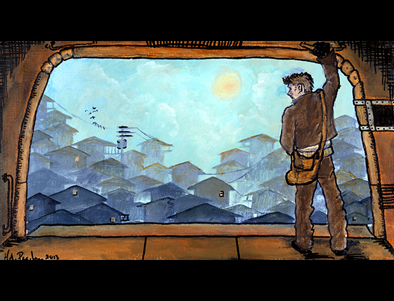 Sleeper by Matthew Hughes (illustration by Hillary Pearlman)