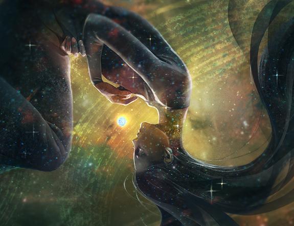 The Universe, Sung in Stars; art by Reiko Murakami.