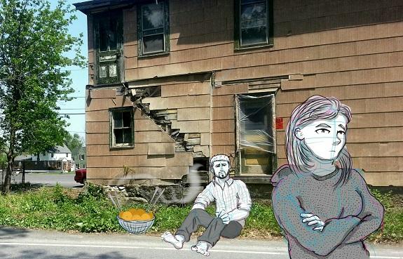 Ghosts of Home. Illustration by Sam J. Miller.