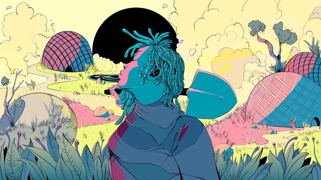 Grist Magazine's Imagine2200. Illustration by Carolina Rodríguez Fuenmayor.